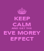 KEEP CALM AND GET THE EVE MOREY EFFECT - Personalised Poster A4 size