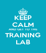 KEEP CALM AND GET TO THE TRAINING LAB - Personalised Poster A4 size