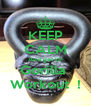 KEEP CALM And get Ur Gorilla  Workout  ! - Personalised Poster A4 size