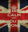 KEEP CALM AND GET YOU THESIS DONE - Personalised Poster A4 size