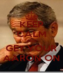 KEEP CALM AND GET YOUR AARON ON - Personalised Poster A4 size