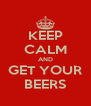 KEEP CALM AND GET YOUR BEERS - Personalised Poster A4 size