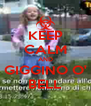 KEEP CALM AND GIGGINO O' BELL - Personalised Poster A4 size