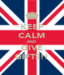 KEEP CALM AND GIVE GIFTS!! - Personalised Poster A4 size