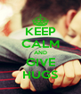 KEEP CALM AND GIVE HUGS - Personalised Poster A4 size
