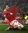 KEEP CALM AND GIVE IT TO  RvP - Personalised Poster A4 size