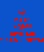 KEEP CALM AND  GIVE ME UR BANK DETAILS - Personalised Poster A4 size