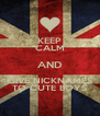 KEEP CALM AND GIVE NICKNAMES TO CUTE BOYS - Personalised Poster A4 size