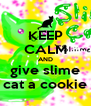 KEEP CALM AND give slime cat a cookie - Personalised Poster A4 size