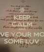 KEEP CALM AND GIVE YOUR MOM SOME LUV - Personalised Poster A4 size