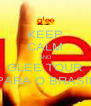 KEEP CALM AND GLEE TOUR PARA O BRASIL - Personalised Poster A4 size