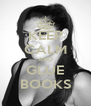 KEEP CALM AND GLUE BOOKS - Personalised Poster A4 size
