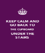KEEP CALM AND GO BACK TO THE CUPBOARD UNDER THE STAIRS - Personalised Poster A4 size