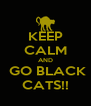 KEEP CALM AND  GO BLACK CATS!! - Personalised Poster A4 size