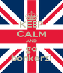 KEEP CALM AND go bonkerz! - Personalised Poster A4 size