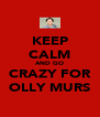 KEEP CALM AND GO CRAZY FOR OLLY MURS - Personalised Poster A4 size
