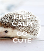 KEEP CALM AND GO CUTE - Personalised Poster A4 size