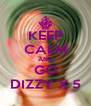 KEEP CALM AND GO DIZZY X 5 - Personalised Poster A4 size