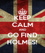 KEEP CALM AND GO FIND HOLMES! - Personalised Poster A4 size