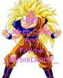 Keep Calm And Go Follow _BarbieDoll97_ - Personalised Poster A4 size