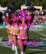 KEEP CALM AND go for manly - Personalised Poster A4 size