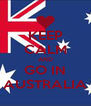 KEEP CALM AND GO IN AUSTRALIA - Personalised Poster A4 size