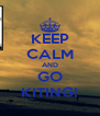 KEEP CALM AND GO KITING! - Personalised Poster A4 size