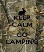 KEEP CALM AND GO LAMPING - Personalised Poster A4 size