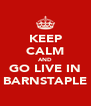 KEEP CALM AND GO LIVE IN BARNSTAPLE - Personalised Poster A4 size