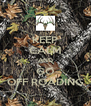 KEEP CALM AND GO OFF ROADING - Personalised Poster A4 size