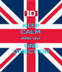 KEEP CALM AND GO ONE DIRECTION - Personalised Poster A4 size