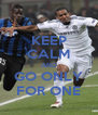 KEEP CALM AND GO ONLY FOR ONE - Personalised Poster A4 size