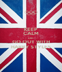 KEEP CALM AND GO OUT WITH HARRY STYLES - Personalised Poster A4 size
