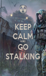 KEEP CALM AND GO STALKING - Personalised Poster A4 size