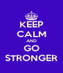 KEEP CALM AND GO STRONGER - Personalised Poster A4 size