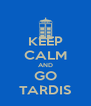 KEEP CALM AND GO TARDIS - Personalised Poster A4 size