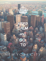 KEEP CALM AND GO  TO - Personalised Poster A4 size