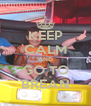 KEEP CALM AND GO TO BREAN - Personalised Poster A4 size