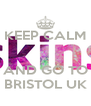 KEEP CALM   AND GO TO BRISTOL UK - Personalised Poster A4 size