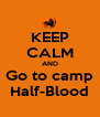 KEEP CALM AND Go to camp Half-Blood - Personalised Poster A4 size