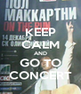KEEP CALM AND GO TO CONCERT - Personalised Poster A4 size