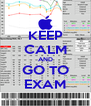 KEEP CALM AND GO TO EXAM - Personalised Poster A4 size