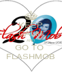 KEEP CALM AND GO TO  FLASHMOB - Personalised Poster A4 size