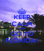 KEEP CALM AND GO TO FLORIDA! - Personalised Poster A4 size