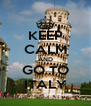 KEEP CALM AND GO TO ITALY - Personalised Poster A4 size