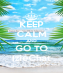 KEEP CALM AND GO TO IzieChat - Personalised Poster A4 size