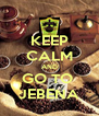 KEEP CALM AND GO TO  JEBENA - Personalised Poster A4 size
