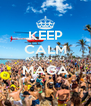 KEEP CALM AND GO TO MAGA  - Personalised Poster A4 size