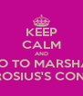 KEEP CALM AND GO TO MARSHA  AMBROSIUS'S CONCERT - Personalised Poster A4 size