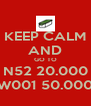 KEEP CALM AND GO TO N52 20.000 W001 50.000 - Personalised Poster A4 size